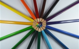 Colorful pencils, round