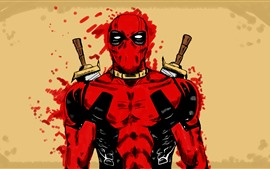 Preview wallpaper Deadpool, superhero, art picture, Marvel