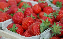 Preview wallpaper Delicious strawberries, fruit close-up