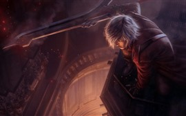 Preview wallpaper Devil May Cry 5, boy, sword, art picture