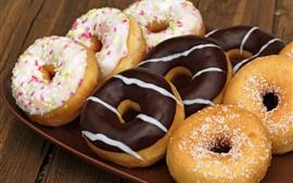 Donuts, chocolate, food, dessert