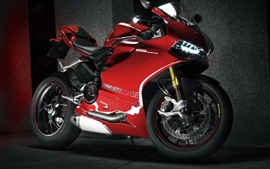 Preview wallpaper Ducati 1199 red motorcycle