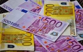 Preview wallpaper Euro, money, paper currency