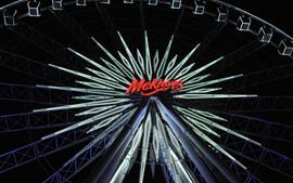 Preview wallpaper Ferris wheel, night, neon lights