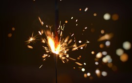 Preview wallpaper Fireworks, sparks, shine
