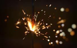 Fogos de artifício, faíscas, brilhar