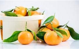 壁紙のプレビュー フルーツ、新鮮なオレンジ、箱