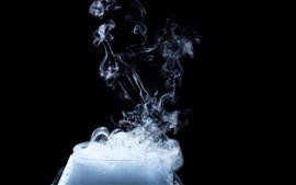 壁紙のプレビュー ガラスカップ、煙、蒸気
