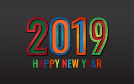 Preview wallpaper Happy New Year 2019