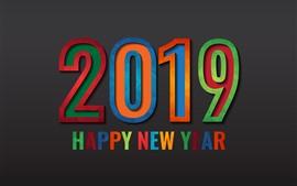壁紙のプレビュー 幸せな新年2019
