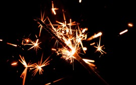 Preview wallpaper Holiday, sparks, fireworks, night