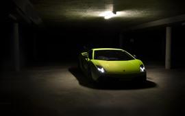 壁紙のプレビュー ランボルギーニLP570-4グリーンスポーツカー