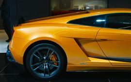 Lamborghini amarelo carro retrovisor, roda