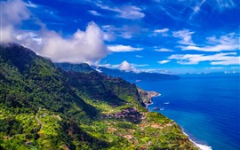 Preview wallpaper Madeira, Portugal, city, sea, mountains