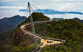 Preview wallpaper Malaysia, Langkawi Sky Bridge