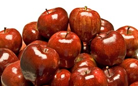 Preview wallpaper Many red apples, white background