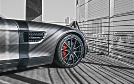 Preview wallpaper Mercedes-Benz car front wheel