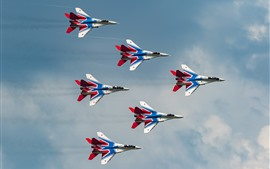 Preview wallpaper MiG-29 multi-role fighter, flight show