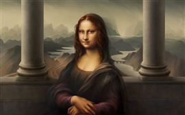 Mona Lisa, smile, digital art picture