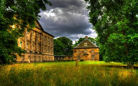 Preview wallpaper Nostell village, glade, trees, England