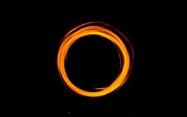 Preview wallpaper Orange light circle, black background