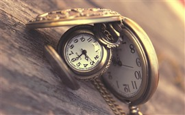 Preview wallpaper Pocket watch, wood board