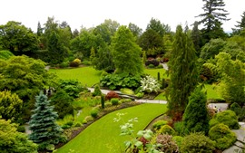 Preview wallpaper Queen Elizabeth Garden, Canada, beautiful park