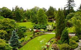미리보기 배경 화면 퀸 엘리자베스 가든, 캐나다, 아름다운 공원