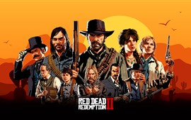 Preview wallpaper Red Dead Redemption 2, art picture