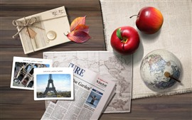 Red apples, photo, newspaper