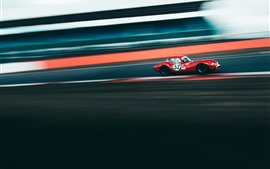 Preview wallpaper Red sport car, racing, speed