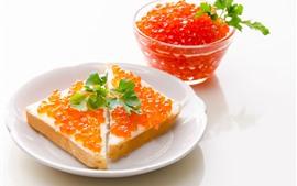 Sandwich, caviar