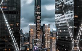 심천 핑 금융 센터, 고층 빌딩, 도시, 중국