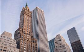 Skyscrapers, buildings, sky, city