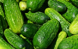 Preview wallpaper Some cucumbers, green vegetable