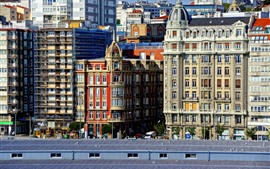 Preview wallpaper Spain, La Coruna, city, buildings
