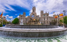 Spain, Madrid, Palace, fountain, sculpture