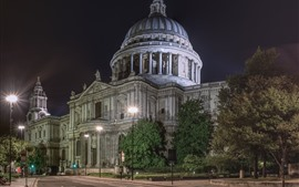 Preview wallpaper St. Paul's Cathedral, London, England, city night