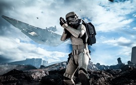 Preview wallpaper Star Wars: Battlefront, soldier