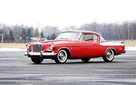 Studebaker 1957 red car