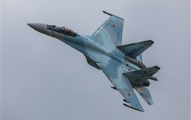 Preview wallpaper Su-35S multipurpose fighter flight