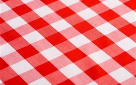Toalha de mesa, listras vermelhas e brancas