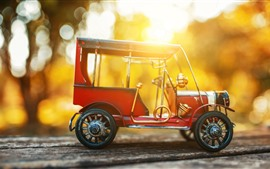 Preview wallpaper Toy car, model, sunset