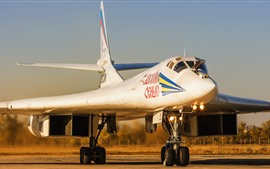 Preview wallpaper Tu-160 Bomber, Swan, airport