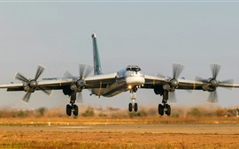 Preview wallpaper Tu-95MS Bomber landing