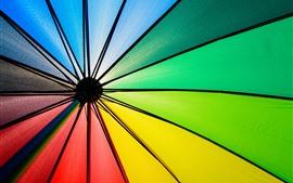 Umbrella, colorful fabric, rainbow colors