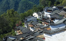 Preview wallpaper Wuyuan, Jiangxi, China, village, houses, countryside