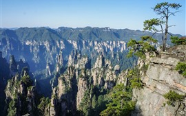 Zhangjiajie, rocks, mountains, cliff, nature landscape, China