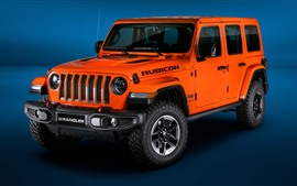 Preview wallpaper 2018 Jeep orange car
