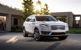 Preview wallpaper 2019 Lincoln Nautilus white SUV car